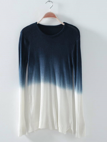 Gradient Color Chic Long Sleeves Knit Sweater