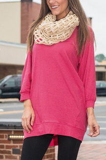 Plain Long Sleeves Blouse