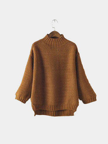 Coffee High Neck Jumper