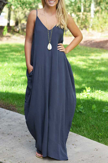 Blue Cami Maxi Dress