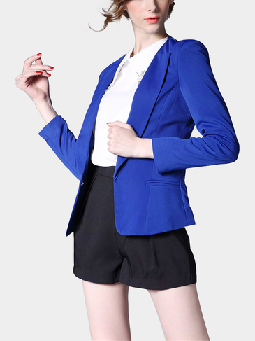 One Concealed Button Blazer