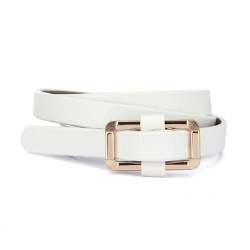 White Gold-tone Hardware Belt