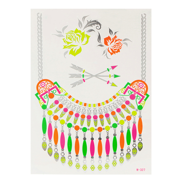 Necklace Metallic Flash Temporary Body Tattoo Sticker