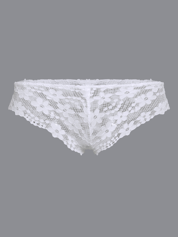 White Sexy Hollow Design Lace Underwear
