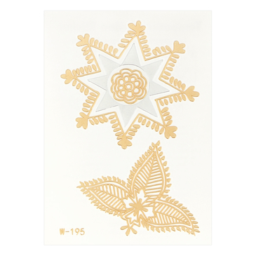 Leaf Metallic Temporary Body Tattoo Sticker