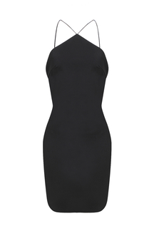 Black Halter Body-Conscious Dress