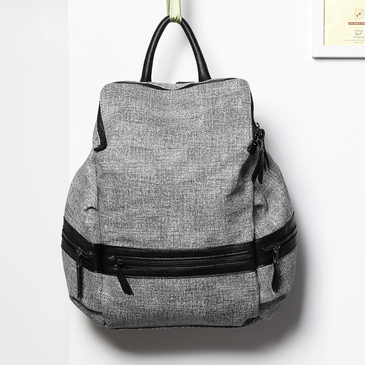 Gery Fashion Front Pocket Backpack