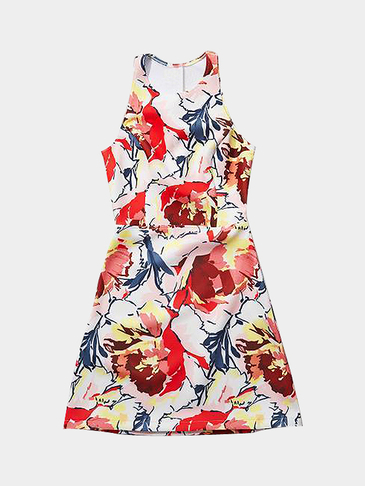 Floral Print Sleeveless Dress