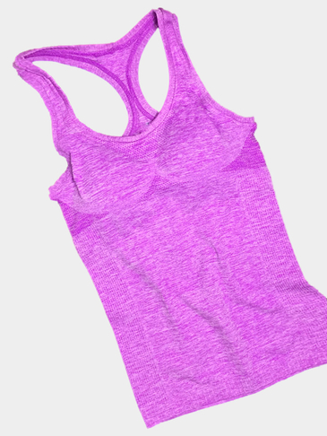 Purple Sports Racer Back Vest