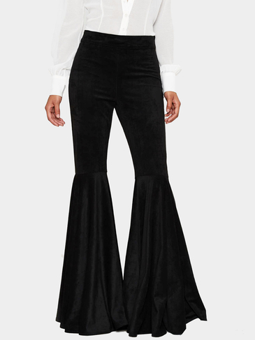 Black Vintage Bell Bottom Pants