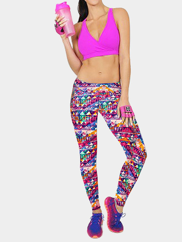 Trangle Bohemian Print Fashion Sport Leggings