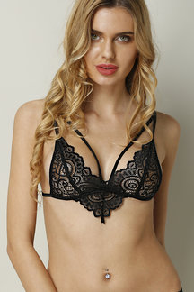 Sexy Lace Hollow Bralet with No Falsies