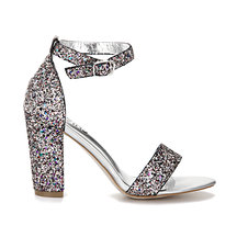Colorful Sequin Ankle Strap High Heeled Sandals