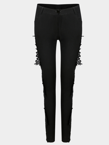 Low Waist Crochet Lace Skinny Jeans