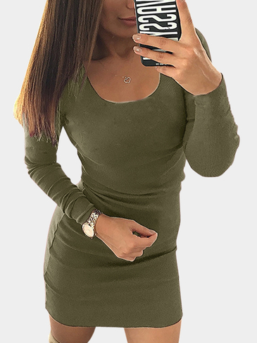 Army Green ?????? ??? Bodycon ????-??????