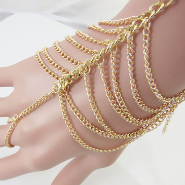 Gold-Tone Multi Hand Chain