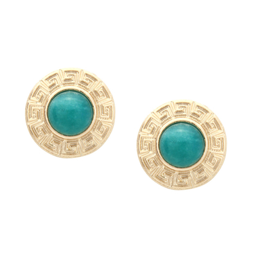 Aventurine Round Stud Earrings