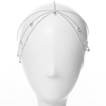 Sliver Embellished Diamond Multilayer Head Accessory