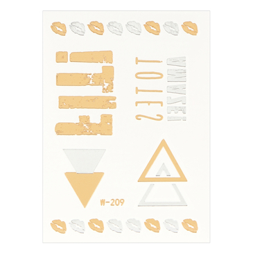 Lip Character Metallic Temporary Body Tattoo Sticker