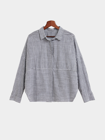 Black And White Stripe Pattern Shirt In Fashion Design
