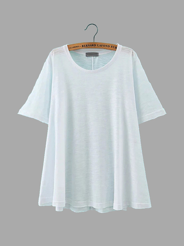 Side Split T-shirt in White