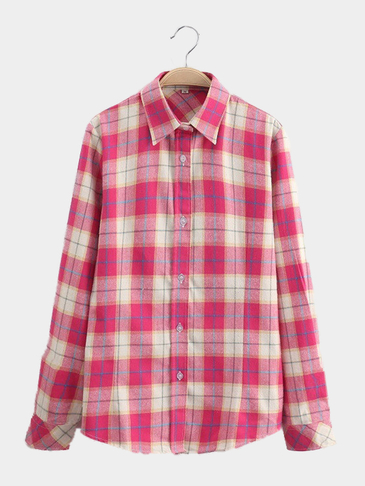 Bright-coloured Grid Pattern Shirt