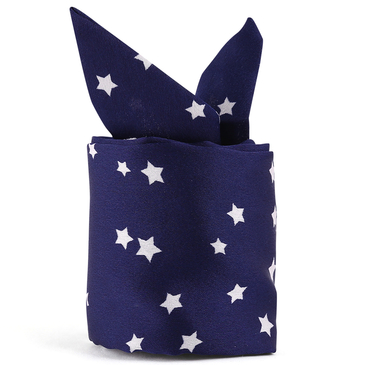 Ladies Star Pattern Lightweight Silk Scarf