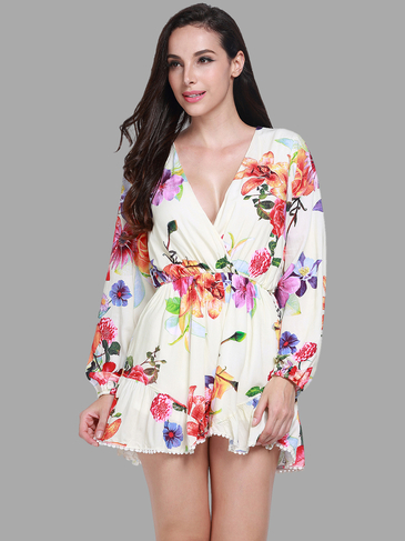 Playsuit with Floral Print