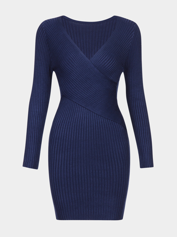Dark Blue Body-con Jumper Dress