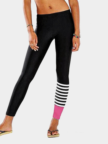 Yoga Stripe Pattern Details Sport Bottom