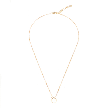 Gold Plated Round Pattern Charming Necklace