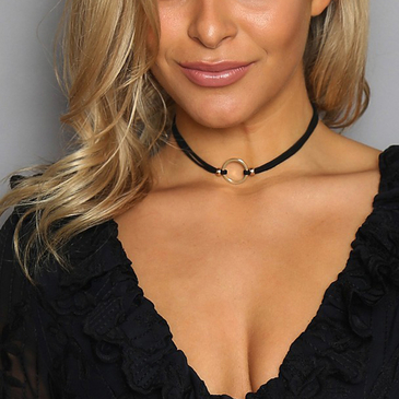 Layered Silver Plated Chain Choker Necklace