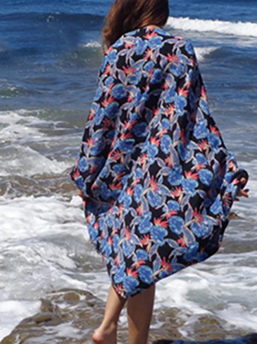 Fashion Random Floral Pirnt Beachwear