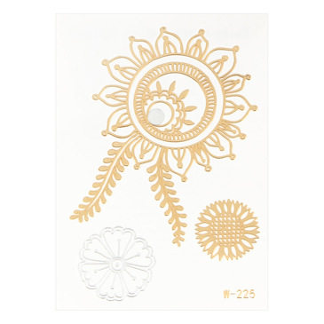Sunflower Metallic Temporary Body Tattoo Sticker
