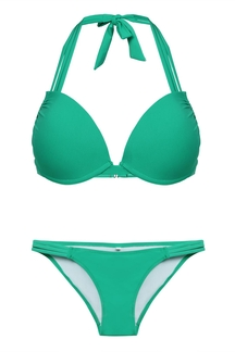 Green Halter Neck Bikini Set