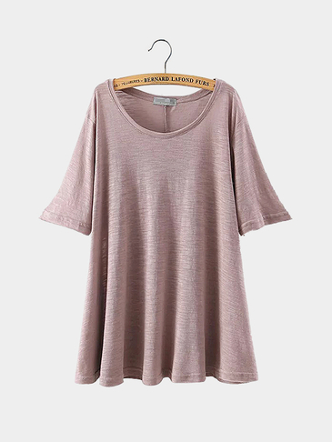 Side Split T-shirt in Pink