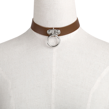 Coffee Vintage Metal Choker Necklace