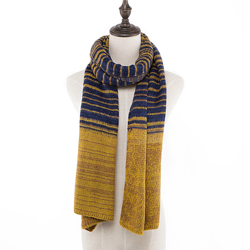 Fluffy Scarf in Block Stripe