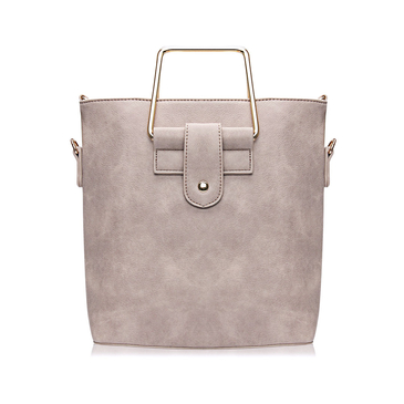 Apricot Artificial Leather Shoulder Bag