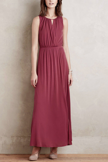 Stunning Sleeveless Hollow Out Elasticated Waist Maxi Dress