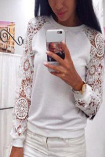 White Fashion Lace T-shirt