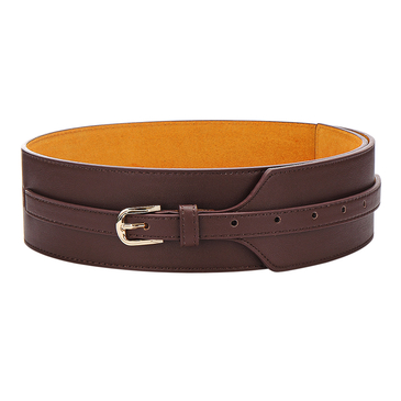 Leather-look Buckle Belt