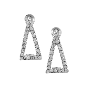 Double Triangle Diamond Earrings
