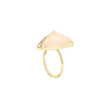 Rose Quartz Ring with Crystal