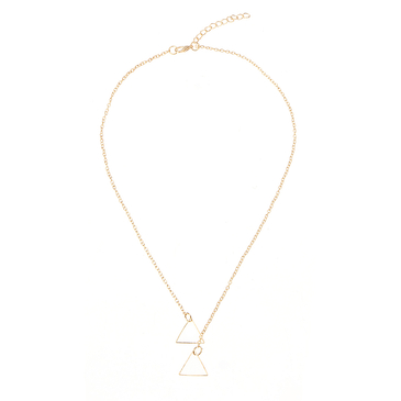 Fashion Gold Plated Triangular Cross Necklace