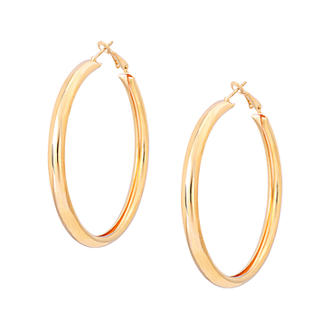 Smooth Design Circle Shape Earring Set