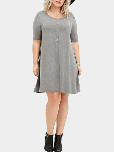 Plus Size Short Sleeve Bodycon Dress