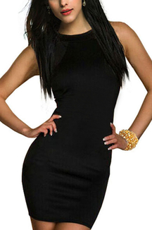 Black Sexy Bodycon Mesh Patchwork Dress