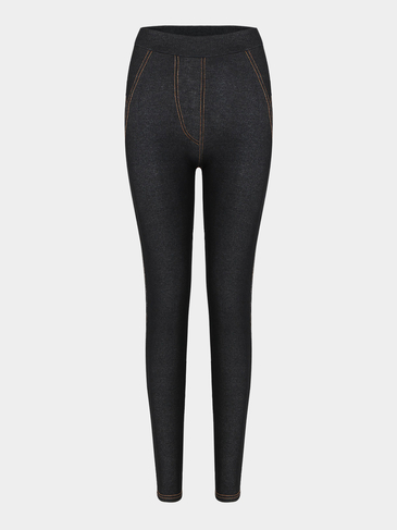 Black Denim Look Leggings