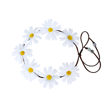 Pastoral Wreath Tying Headband in Daisy